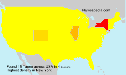 Surname Taono in USA