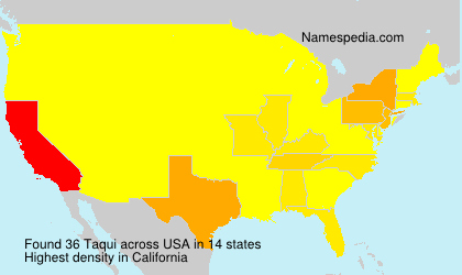Surname Taqui in USA