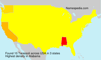 Surname Tarassoli in USA
