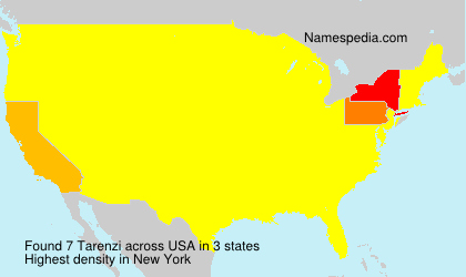 Surname Tarenzi in USA