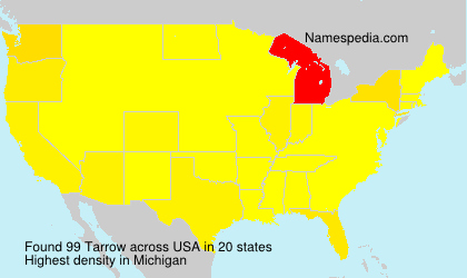 Surname Tarrow in USA