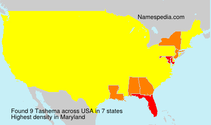 Surname Tashema in USA
