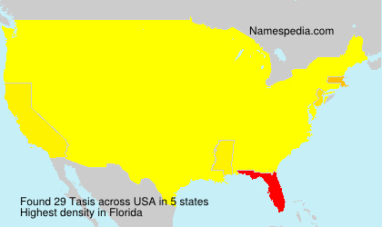 Surname Tasis in USA