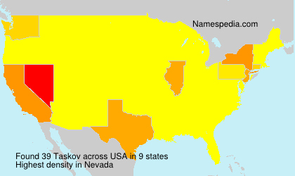 Surname Taskov in USA