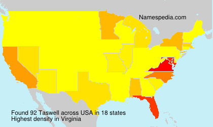 Surname Taswell in USA