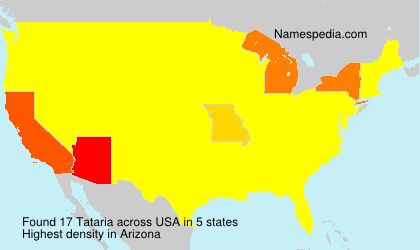 Surname Tataria in USA