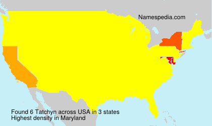 Surname Tatchyn in USA
