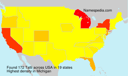 Surname Tatti in USA