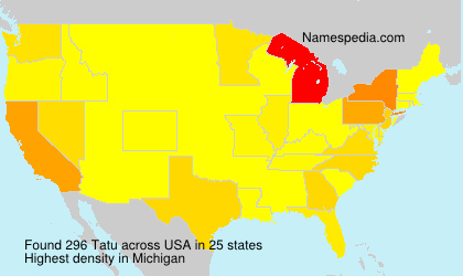 Surname Tatu in USA