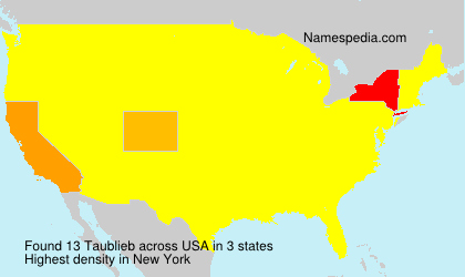 Surname Taublieb in USA