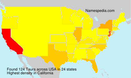 Surname Taura in USA