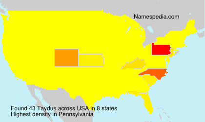 Surname Taydus in USA