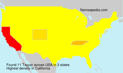 Surname Tayyar in USA