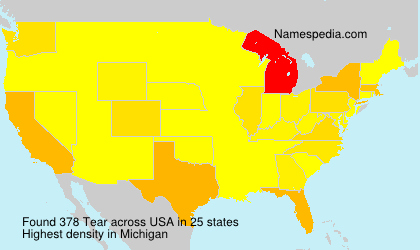 Surname Tear in USA