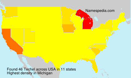 Surname Techel in USA