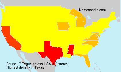 Surname Tegue in USA