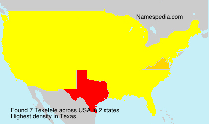 Surname Teketele in USA