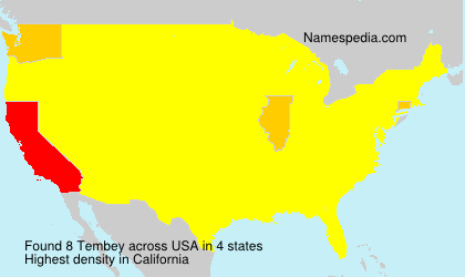 Surname Tembey in USA