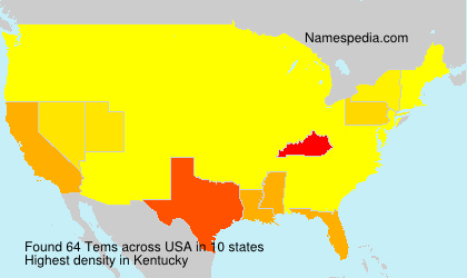 Surname Tems in USA