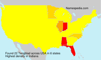 Surname Tengblad in USA