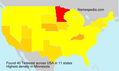 Surname Terbeest in USA
