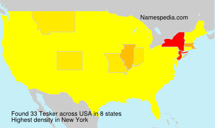 Surname Tesker in USA