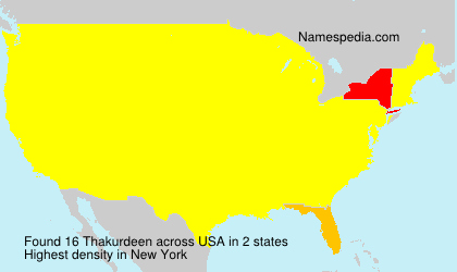Surname Thakurdeen in USA