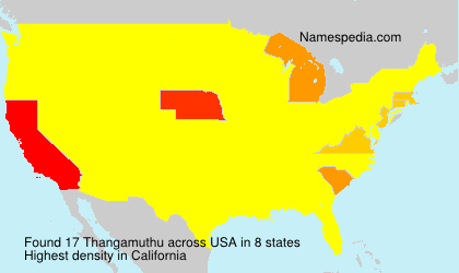Surname Thangamuthu in USA
