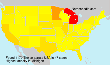 Surname Thelen in USA