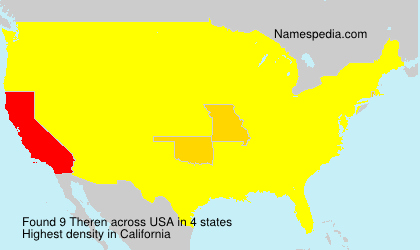 Surname Theren in USA