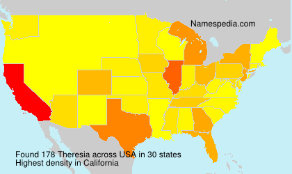 Surname Theresia in USA