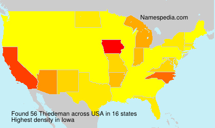 Surname Thiedeman in USA