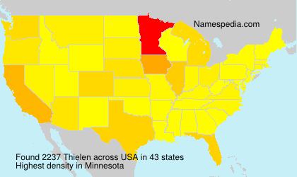 Surname Thielen in USA