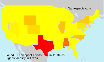 Surname Thienpont in USA