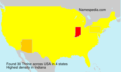 Surname Thrine in USA