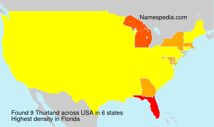 Surname Thurland in USA