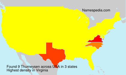 Surname Thurneysen in USA