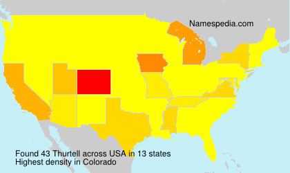 Surname Thurtell in USA