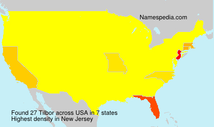Surname Tilbor in USA
