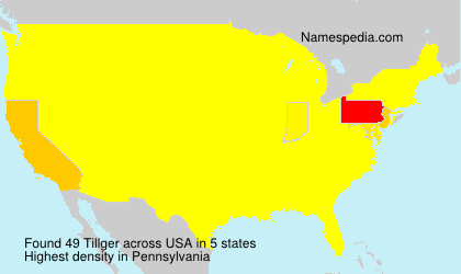 Surname Tillger in USA