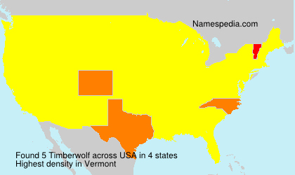 Surname Timberwolf in USA