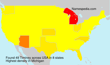 Surname Timiney in USA