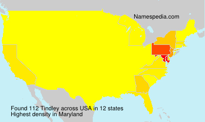 Surname Tindley in USA