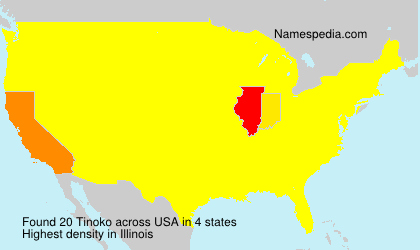 Surname Tinoko in USA