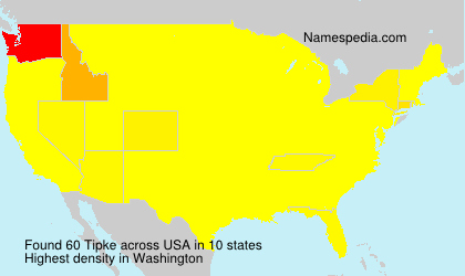 Surname Tipke in USA
