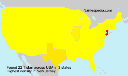Surname Tistan in USA