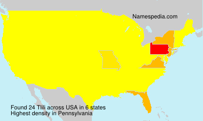 Surname Tlili in USA