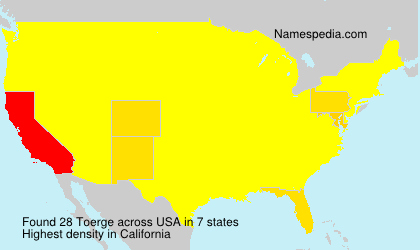 Surname Toerge in USA