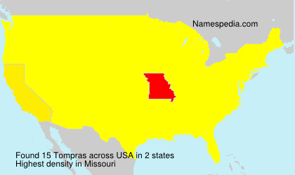 Surname Tompras in USA