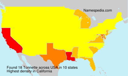 Surname Tonnette in USA